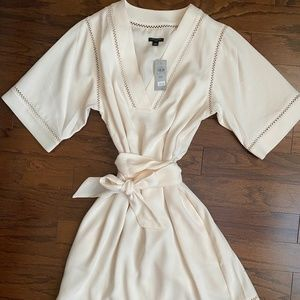 Ann Taylor - Petite White dress with tie